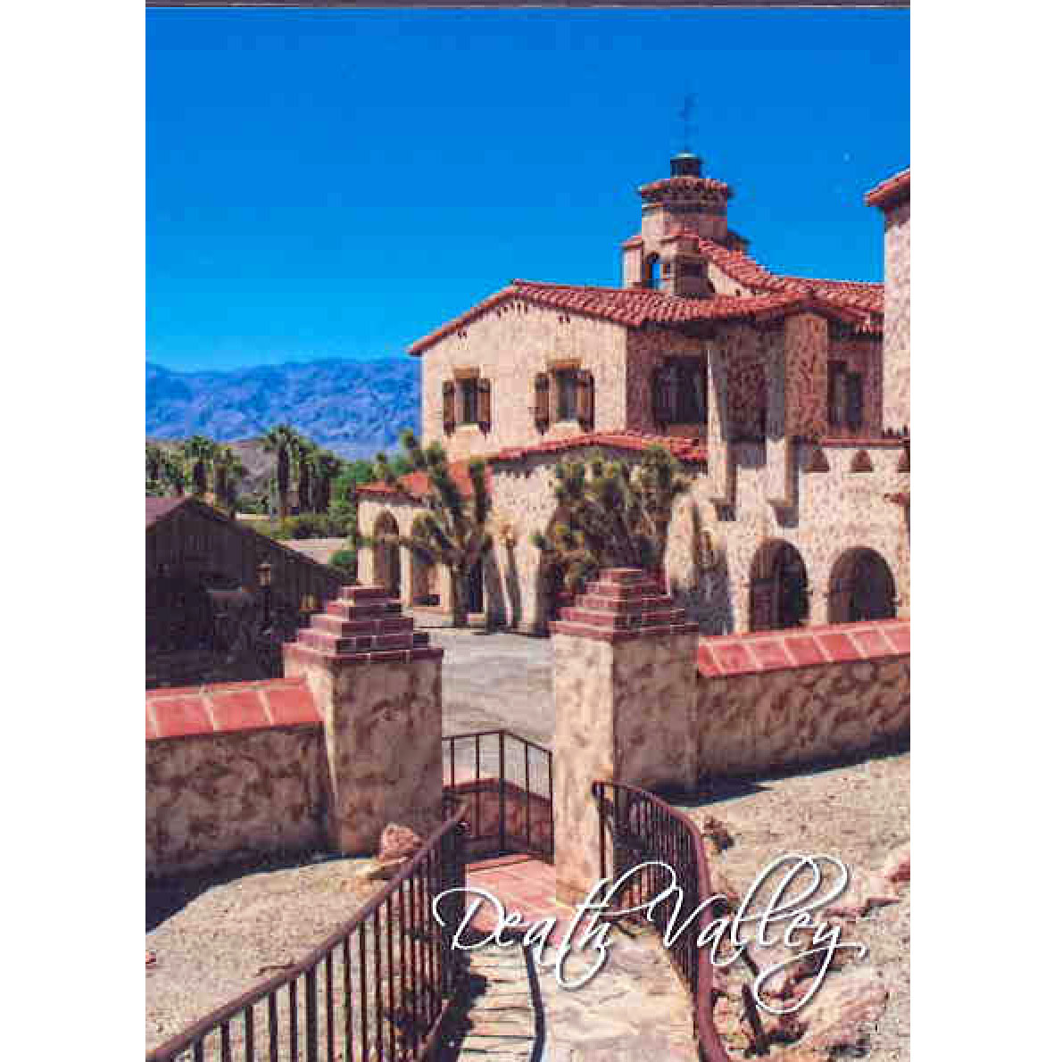 Scotty's Castle View from the Hacienda Magnet - Death ...